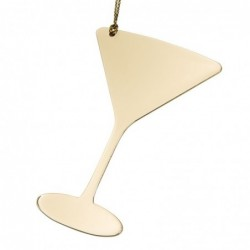 Martini Ornament Gold Color...