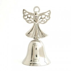 Nickel Small Bell With Angel