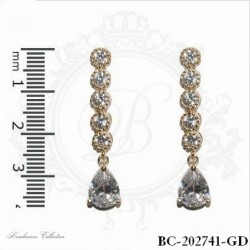 Gold Cubic Zirconia Earrings