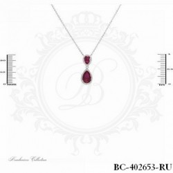 Ruby Necklace | Cubic Zirconia