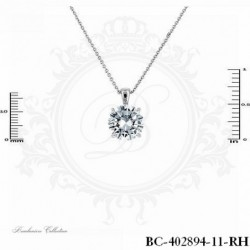 Necklace Round Cut Cubic...