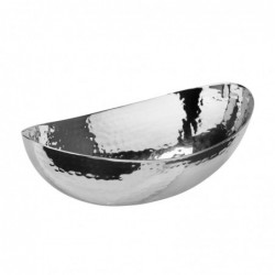 Hammered Oval Bowl, 8
