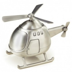 Helicopter Bank, Pewter Finish