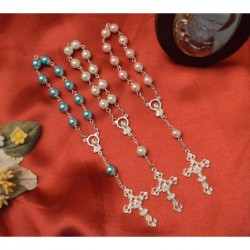 Mini  Rosary - White