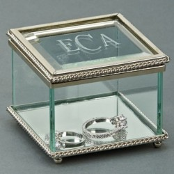 Glass Box With Hinged