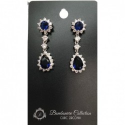 Blue Earrings/Cubic Zirconia