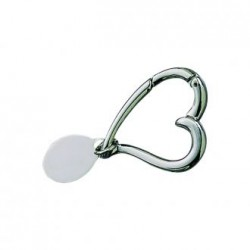 Outlined Heart Key Chain